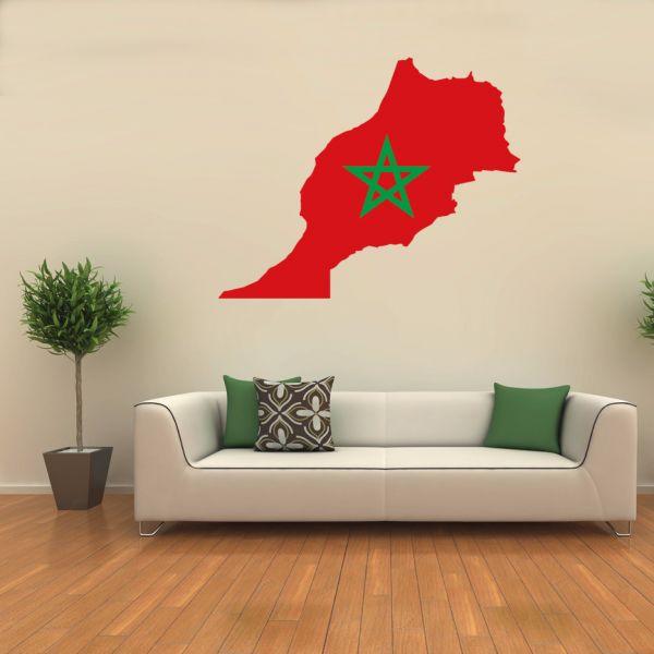 Morocco flag map sticker