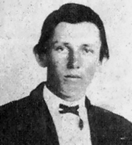 Said to be a photograph of Billy the KId, although only one such photograph has been authenticated and this isn't it.