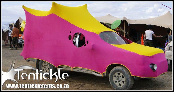 Stretch decor Art Car for Afrika Burns #stretchdecor #afrikaburns #artcar