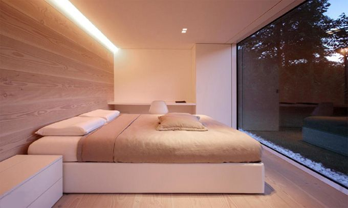 Wow.: Lugano Houses, Comfy Beds, Floors, Lakes Houses, Jm Architecture, Lakes Lugano, Modern Houses, Modern Bedrooms, Beautiful Bedrooms