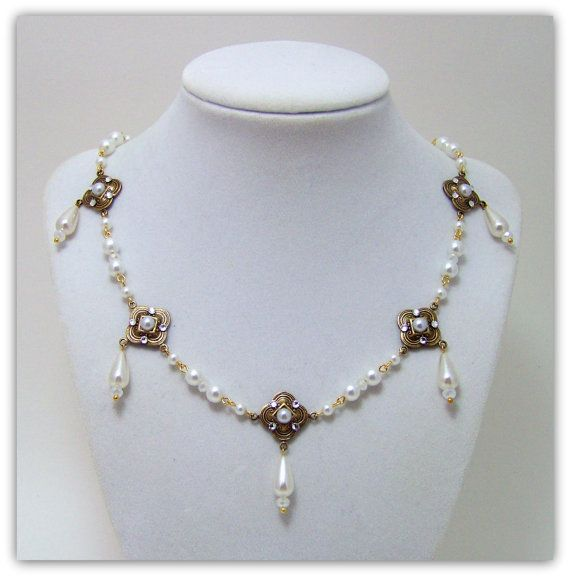 Medieval Necklace  Renaissance Necklace  by TreasuresForAQueen