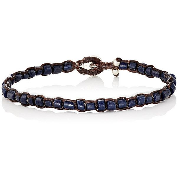 Caputo & Co Men's Recycled Glass Beaded Bracelet ($95) ❤ liked on Polyvore featuring men's fashion, men's jewelry, men's bracelets, navy, mens bead bracelets, mens watches jewelry, mens cord bracelets and mens bracelets
