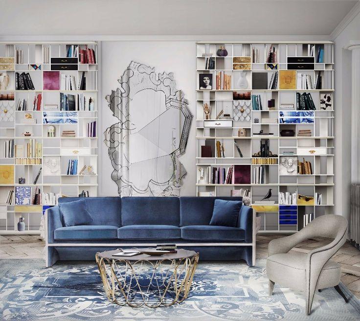 6 Tips On How To Decorate Around A Bold Velvet Sofa | decorating ideas, velvet sofa, modern sofas #decoratingideas #modernsofas #velvetsofa Read more: http://modernsofas.eu/2017/07/10/tips-decorate-bold-velvet-sofa/