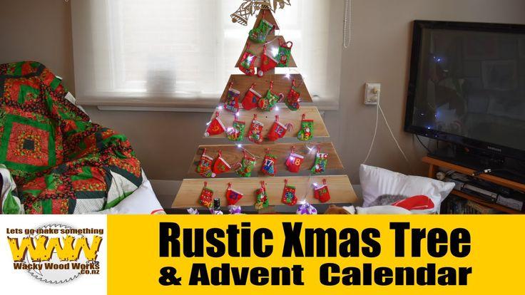 Rustic Xmas Tree Advent Calendar - Wacky Wood Works