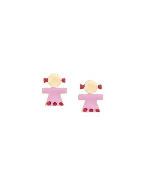 Παιδικά Σκουλαρίκια Χρυσά 14Κ με Σμάλτο Αναφορά 018116 Ένα πανέμορφο ζευγάρι παιδικά σκουλαρίκια με καρφάκι από Χρυσό Κ14 σε κίτρινο χρώμα. Τα στοιχεία είναι κοριτσάκια στολισμένα με κόκκινο σμάλτο.