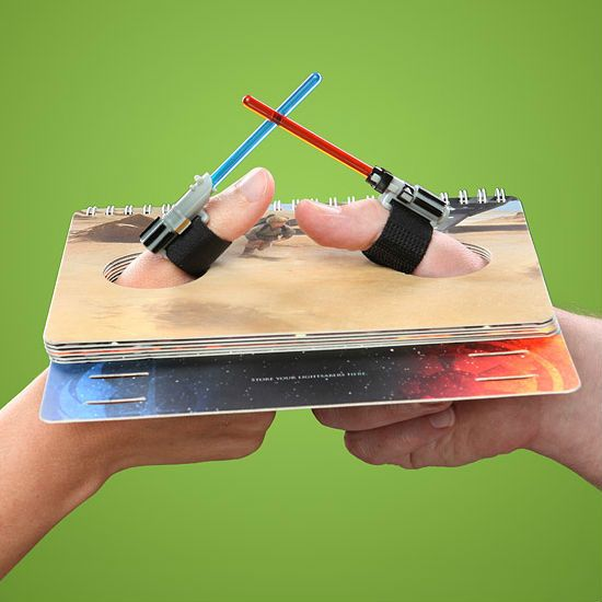 lightsaber thumb wrestling . . . why wasn't this around when we were kids?!??