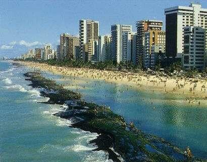 Recife - The Venice of Brazil - Boa Viagem Beach -  Cleise's hometown.