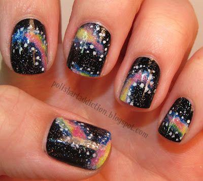 Polish Art Addiction: Galaxy Tutorial: Polish Art, Nails Art, Art Addiction, Galaxies Tutorials, Galaxy Nails, Art Tutorials, Nails Polish Colors, Galaxies Nails, Nails Tutorials