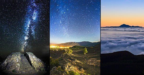 On instagram by fotosdeabian #astrophotography #contratahotel (o) http://ift.tt/1PKJ0rb es la nueva portada que tendré (hasta que me aburra) en mi página de Facebook. Los lugares de izquierda a derecha son: Fuencaliente el Mirador del Llano del Jable y El Teide visto desde el Pico Birigoyo. Falta una más que no me cabe en Instagram y es en la Playa de Benijo en Tenerife.  #lapalma #visitcanarias #visitlapalma #canarias #islascanarias #worldpride #naturaleza_canarias #espacio_canario…