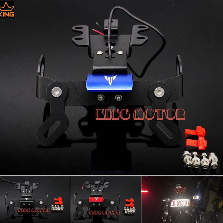 For YAMAHA MT 07 FZ 07 2014 2016 Motorcycle Fender Eliminator Registration Plate Bracket License Plate Holder LED Light Blue-in Covers & Ornamental Mouldings from Automobiles & Motorcycles on Aliexpress.com | Alibaba Group