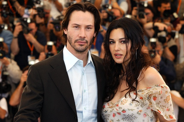 Keanu Reeves and Monica Bellucci (Bram Stoker's Dracula, Matrix sequels)