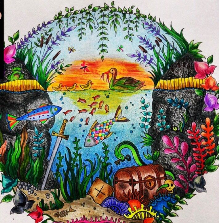 джоанна басфорд зачарованный лес картинки