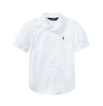 Polo Ralph Lauren® Girls' 2T-6X Short Sleeve Oxford Shirt