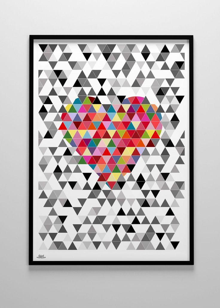 Läjet Printworks - Valentine, vit 50x70