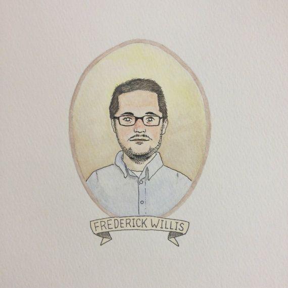 Custom Portrait Watercolor Illustration by bensonbenson on Etsy bensonbensonco.com