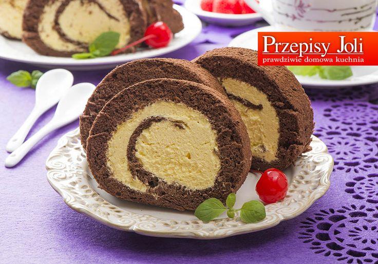 czekoladowa rolada z ajerkoniakiem