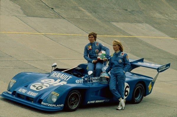 Alpine Renault  Lella and Marie-Claude in 1976