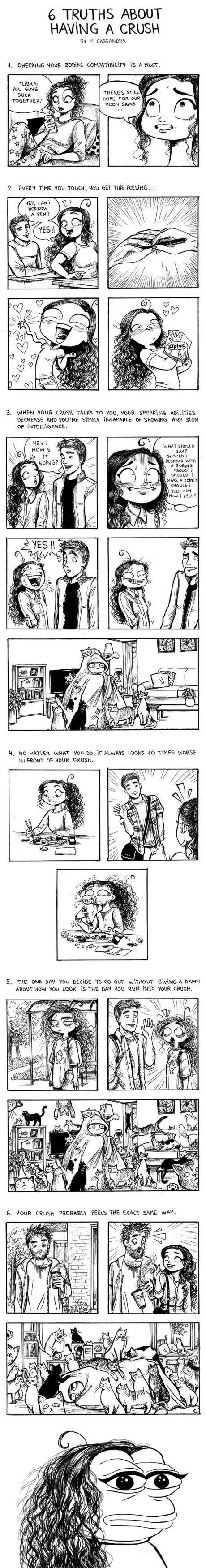 6 truths about having a crush (by C. Cassandra)