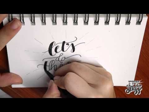 Hand lettering Tutorial 1 - Let's Do This - YouTube