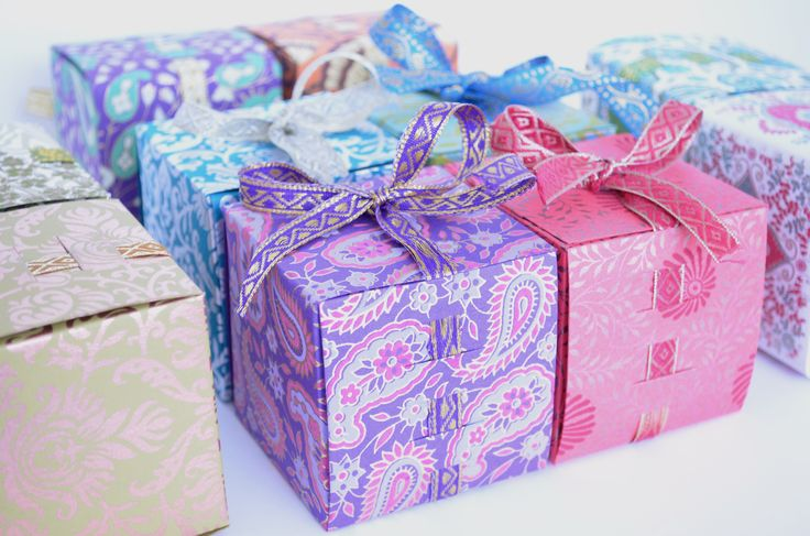 Ribbon favor boxes Perfect for Indian wedding favors, to fill with ...