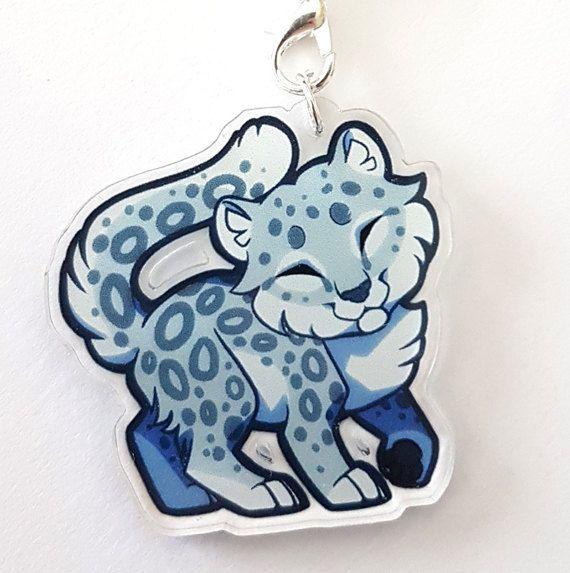 Mooie kleine chibi snow leopard te hangen van uw telefoon, sleutelhanger, tas of rugzak!  * Deze charme maatregelen 1.5(3,8 cm) breed en 3mm dik *  * Afdrukken op één zijde *  * Het gemaakt van dik, duurzaam laser-gesneden, duurzaam duidelijk acryl *  Fundamentele band: * De charmes zijn gekoppeld aan een riem van de witte telefoon via een sprong-ring en gesp *  Gevlochten riem: * De charmes zijn gekoppeld aan een riem van de gekleurde gevlochten telefoon via een sprong-ring en gesp met een…