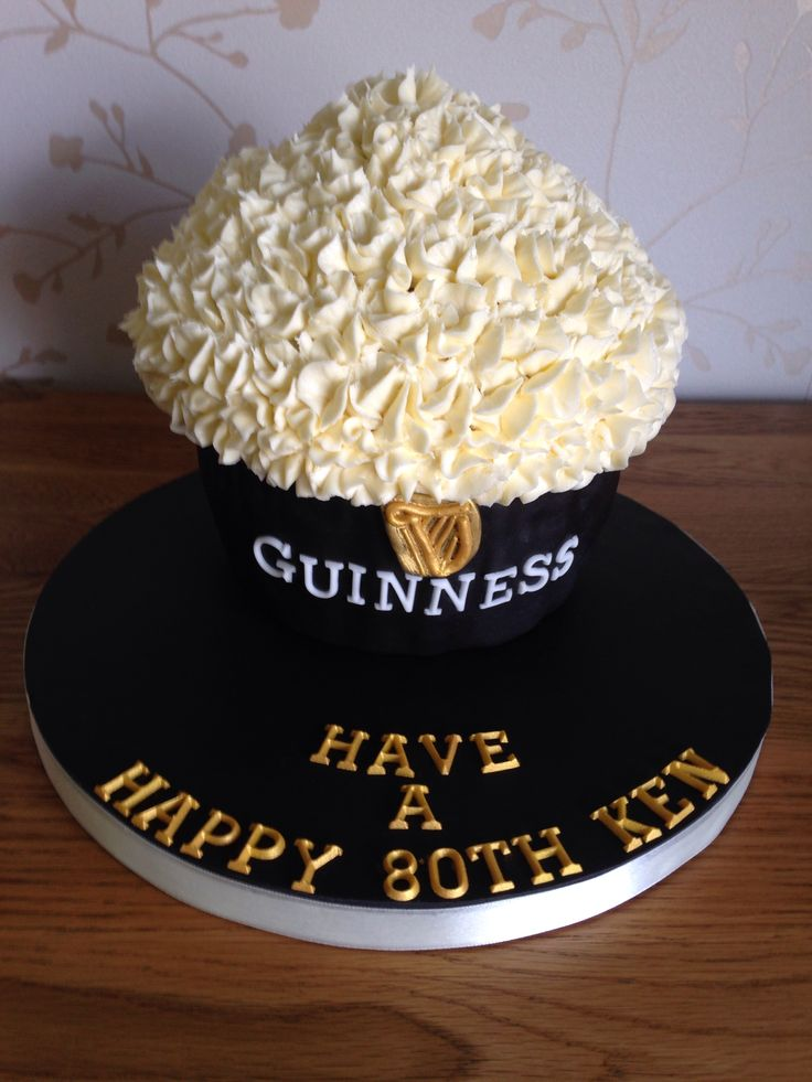 Guinness style Giant Cupcake
