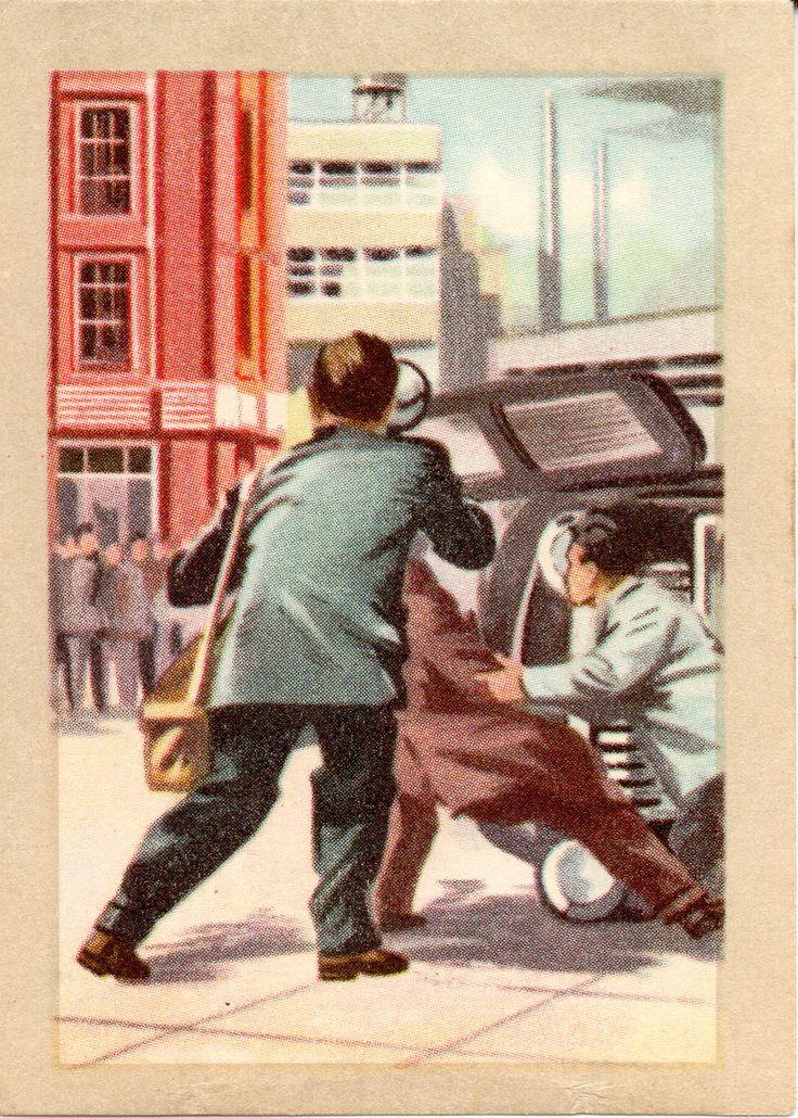 JACQUES SUPERCHOCOLAT - LES METIERS DANGEREUX: Le reporter (Chromos instructifs - 138)