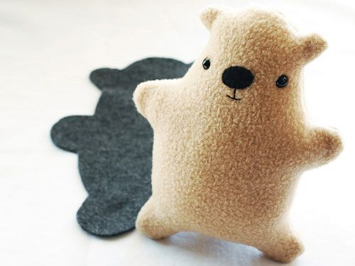 How-To: DIY Groundhog Day Plush Toy...think of adding a couple of teeth for a beaver