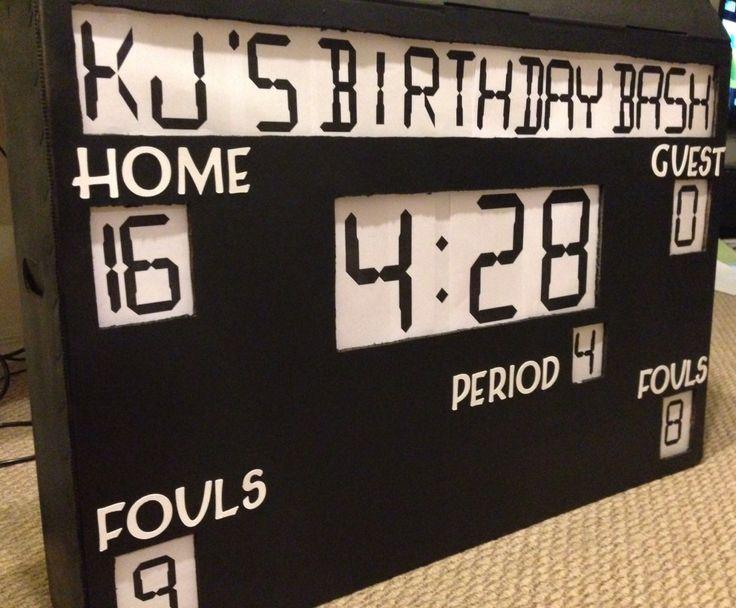 DIY Basketball Theme Party Scoreboard