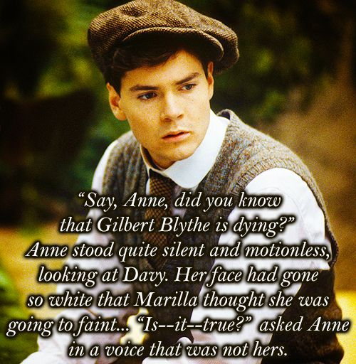 RIP Jonathan Crombie. You will forever be Gilbert Blythe to me.