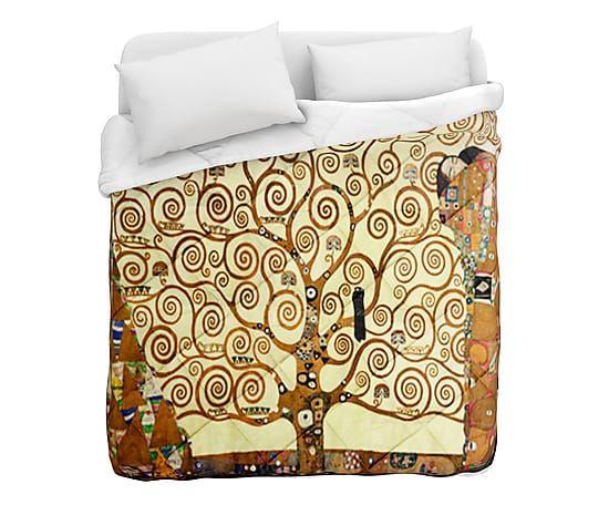 Trapunta matr. in cotone Klimt Albero della Vita - 260x260 cm