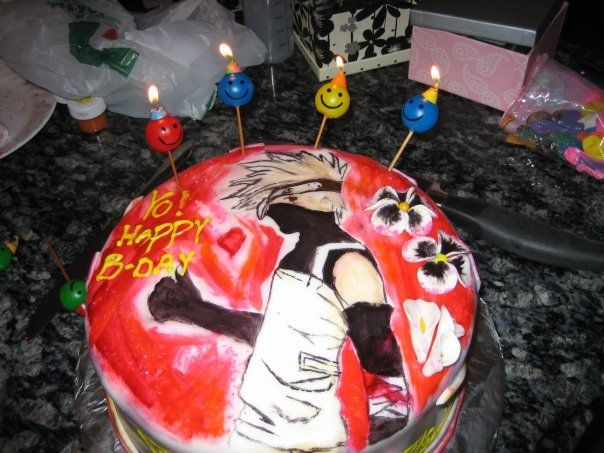 Kakashi Birthday Cake I Would Totally Commission Someone