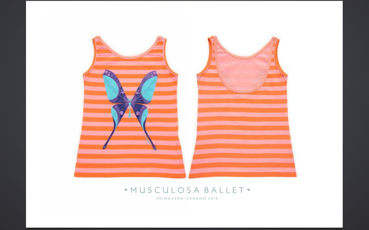 Ballet style low back tank top