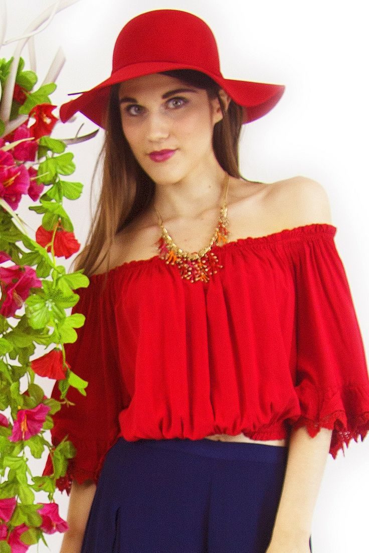 Rock Lace Red Top $34.99