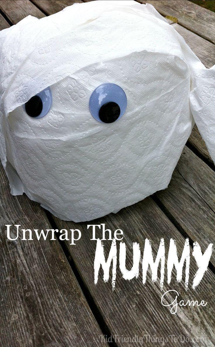 Festett mandarin hamozasa 73 - Unwrap The Mummy Halloween Party Game