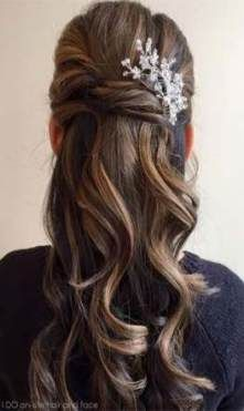 Best bridal hairstyles for long hair with comb up dos Ideas