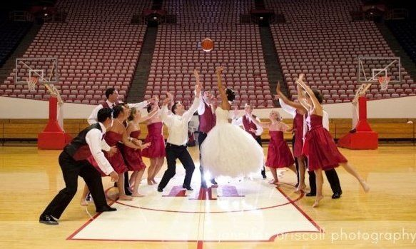Indiana basketball! Wedding pictures. wedding picture ideas @jenniferdiscoll