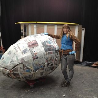 How to make a giant paper-mache egg