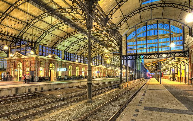Den Haag HS, the oldest train station in The Hague, The Netherlands