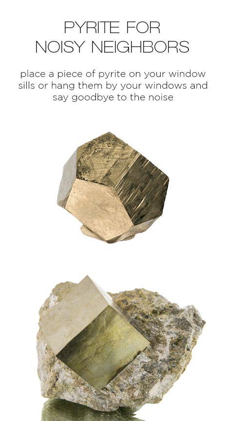 Crystal healing: Pyrite for noisy neighbors