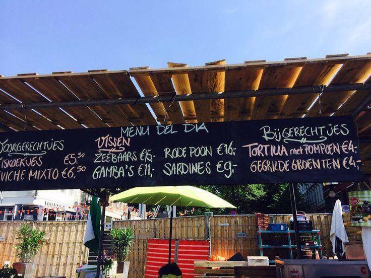 A la Plancha pop-up visrestaurant in Rotterdam