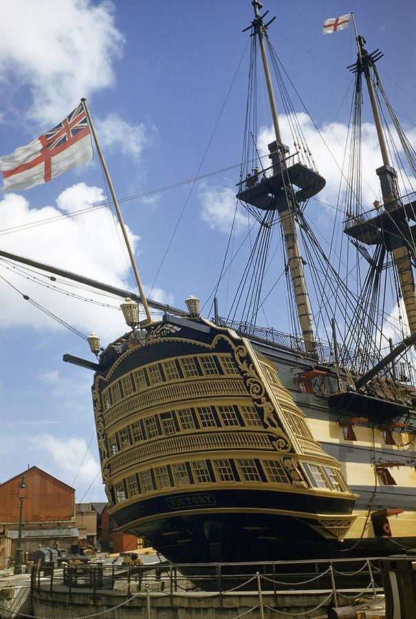 Nelson's flagship - HMS Victory. Best known for her role in the Battle of Trafalgar