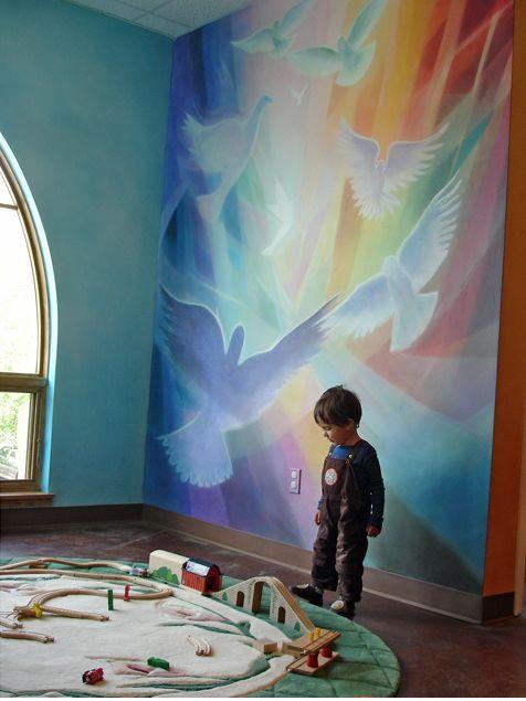 lazure waldorf painting -- art in children's spaces