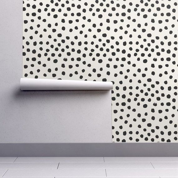 Our wallpapers are fully removable, perfect for renters, kids rooms, dorms, or an easy change in decor! Every Spoonflower wallpaper is PVC-free and printed using water-based, eco-friendly inks.  Dots Cream Neutral Minimal Animal Spots by Charlotte Winter  Once you place your order we will print the design on your choice of Smooth Water Activated wallpaper (removable) or Woven Peel and Stick wallpaper (removable and repositionable).  Our rolls are 24 inches wide and we offer a variety of…
