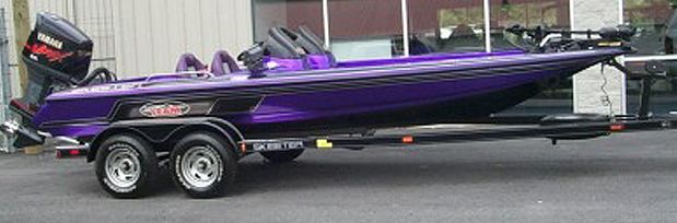 purple boat | Skeeter Bass Boats For Sale Used Bass Boats