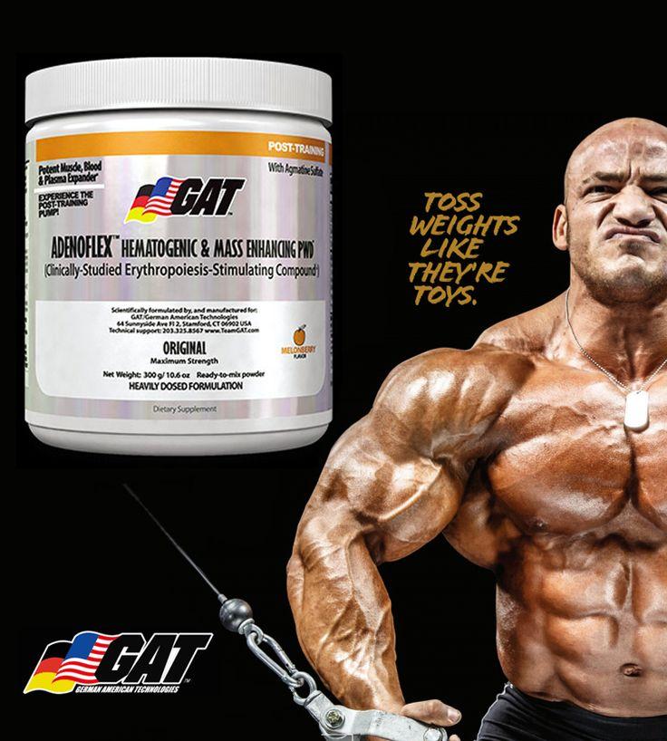Послетренировочный комлекс Adenoflex от GAT! Спортивное питание. Фитнес. Мышцы. Бодибилдинг.