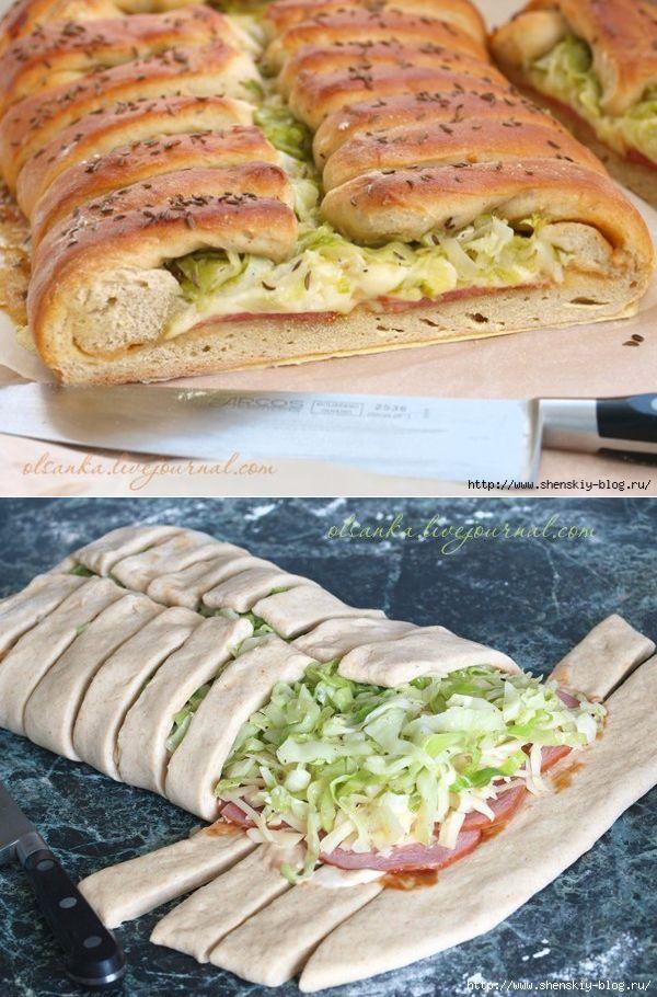 Деревенский хлеб-пирог с вкуснющей начинкой   Четыре вкуса