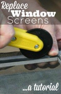 Let the fresh air in and keep those pesky bugs out using this easy to follow DIY tutorial for replacing your old, worn out window screens.