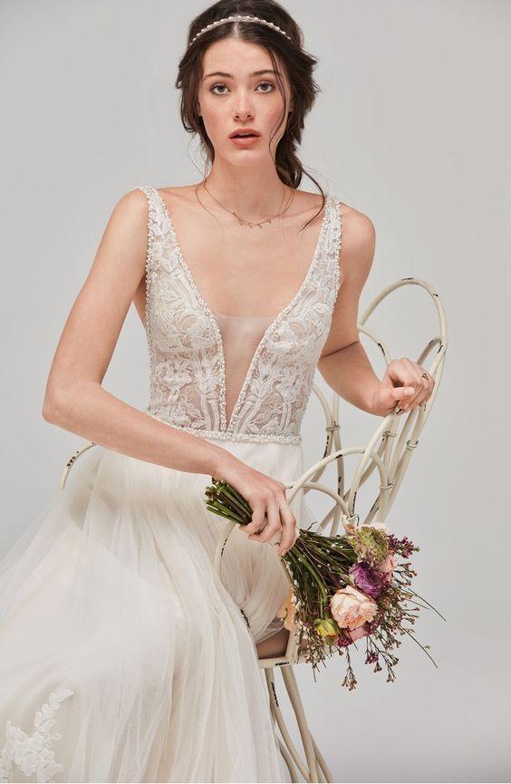 122 best bohemian wedding dresses images on Pinterest