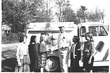 lots of ice cream mostly  http://upload.wikimedia.org/wikipedia/commons/thumb/a/a0/Vintage_ice_cream_truck.jpg/220px-Vintage_ice_cream_truck.jpg